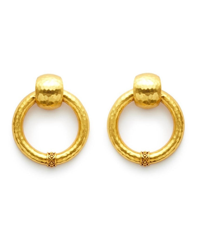 Catalina Large Doorknocker Clip-On Earrings