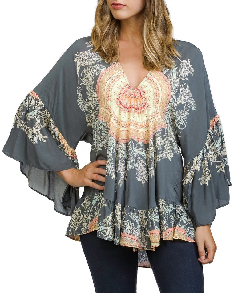 Sunset Dream Ruffle Tunic