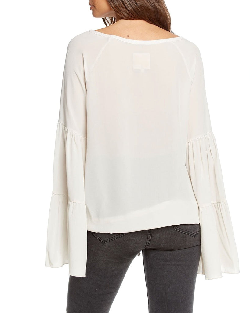 Silk Bell Sleeve Top