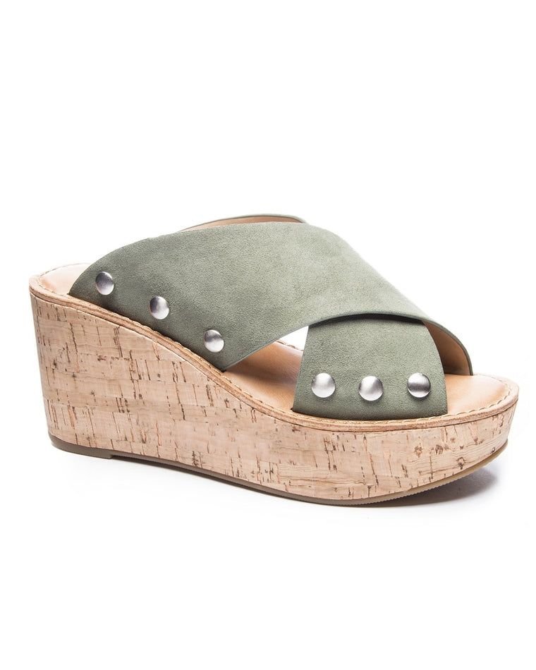 Oahu Studded Platform Wedge Sandals