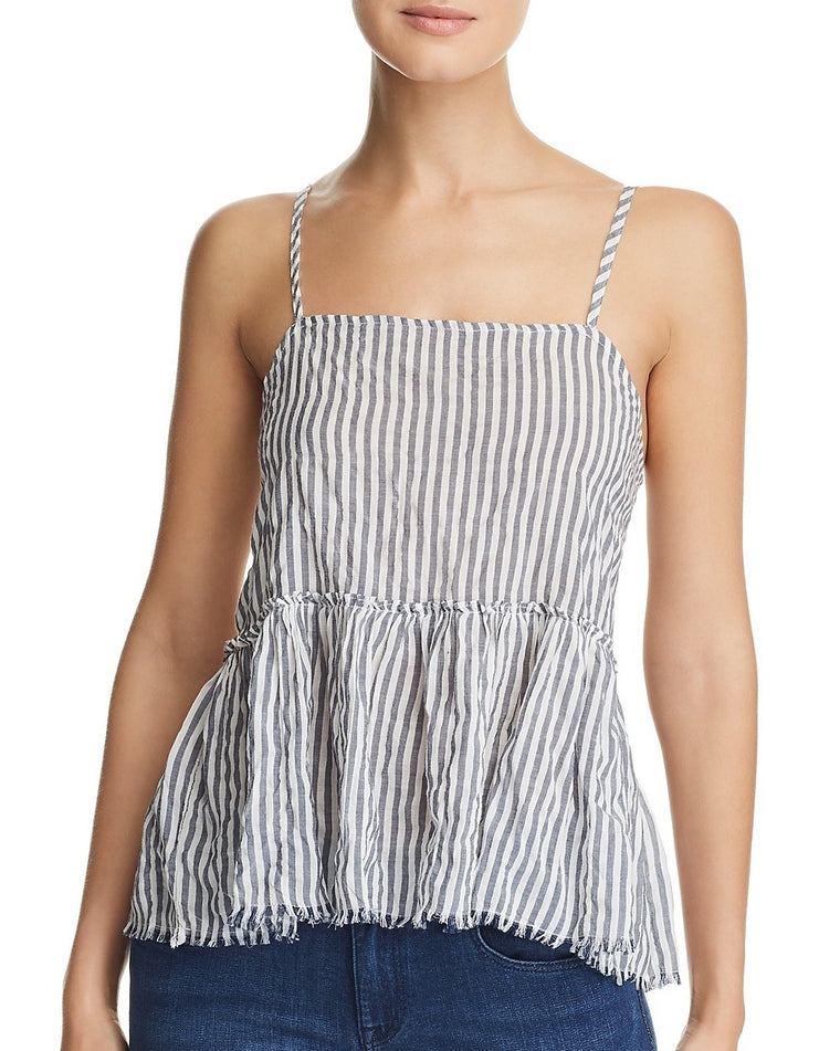 Isabel Stripe Peplum Tank Top