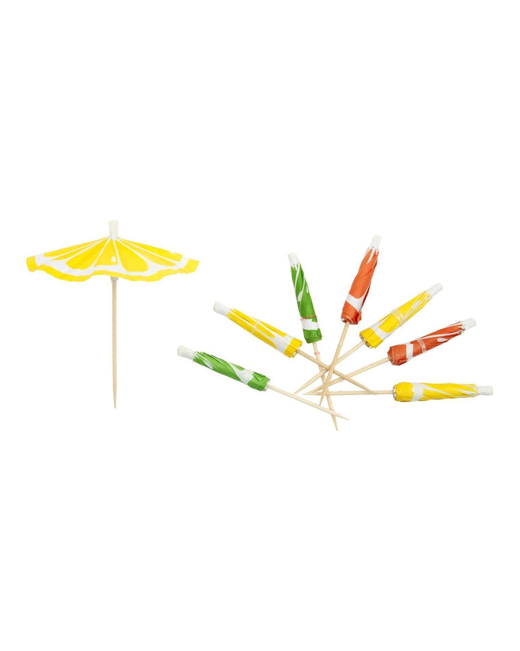 Citrus Cocktail Umbrellas (Set of 24)