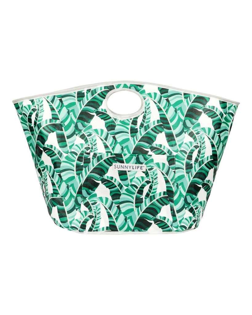 Banana Palm Print Carryall Beach Tote
