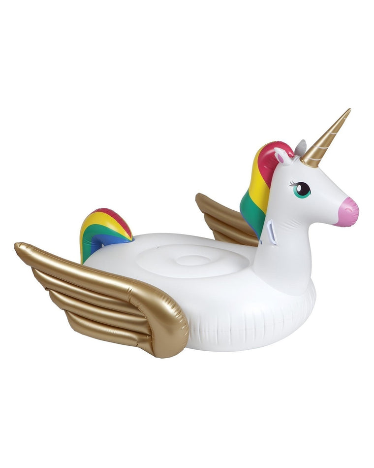 Luxe Unicorn Ride-On Pool Float