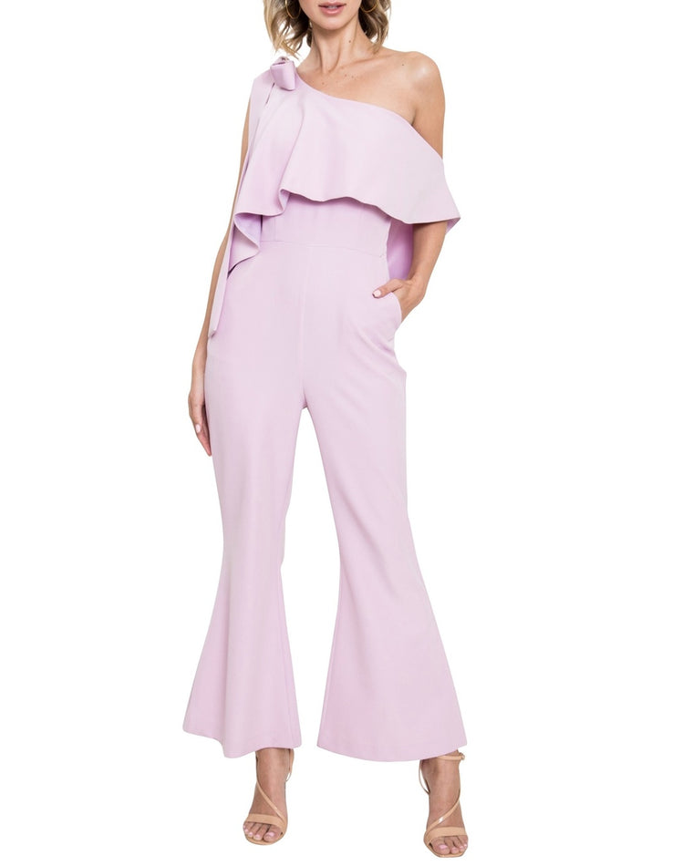 One-Shoulder Ruffle Jumpsuit