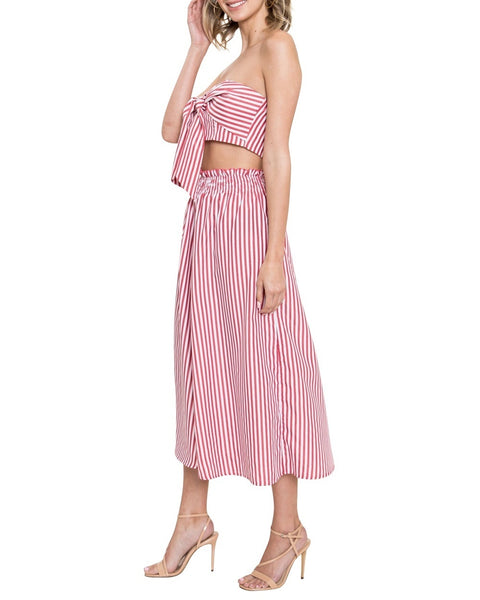 bddf88adcee7 Striped Wide Leg Two-Piece Crop Jumpsuit