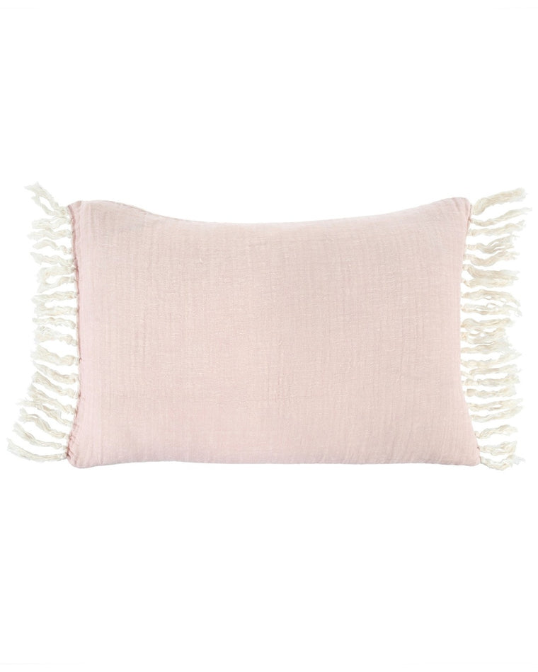 Linen Tassel Accent Pillow
