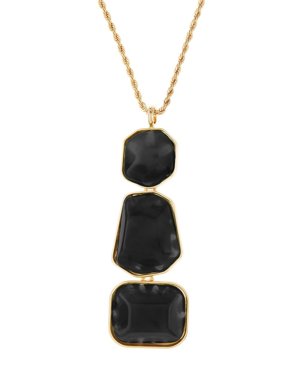 Kenneth jay lane three nugget pendant necklace the shopping bag three nugget pendant necklace aloadofball Images