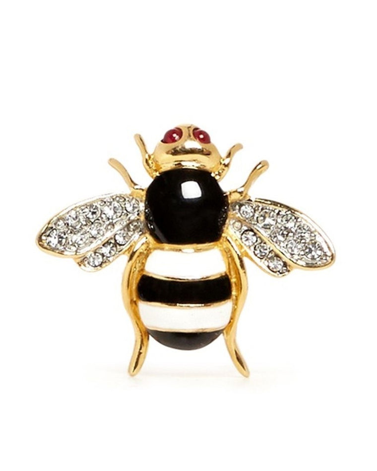 Crystal Pavé Enamel Bee Ring