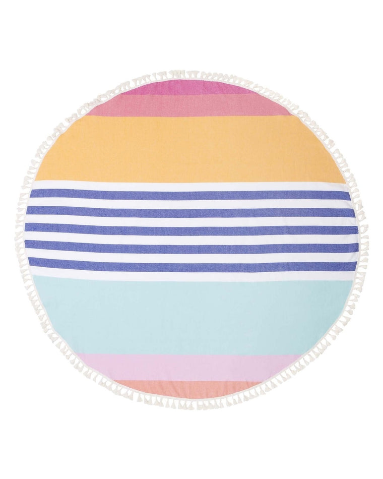 Round Fouta Catalina Print Beach Towel