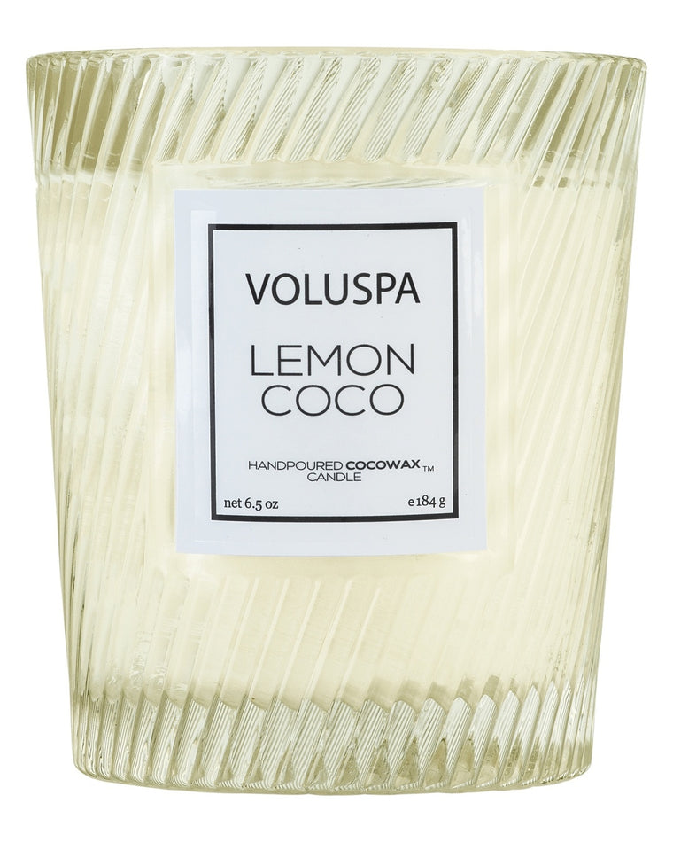 Lemon Coco Classic Textured Candle