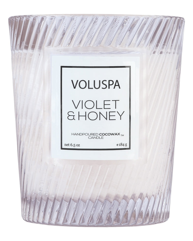 Violet & Honey Classic Textured Candle