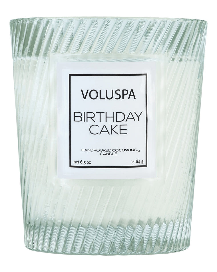 Birthday Cake Classic Textured Candle