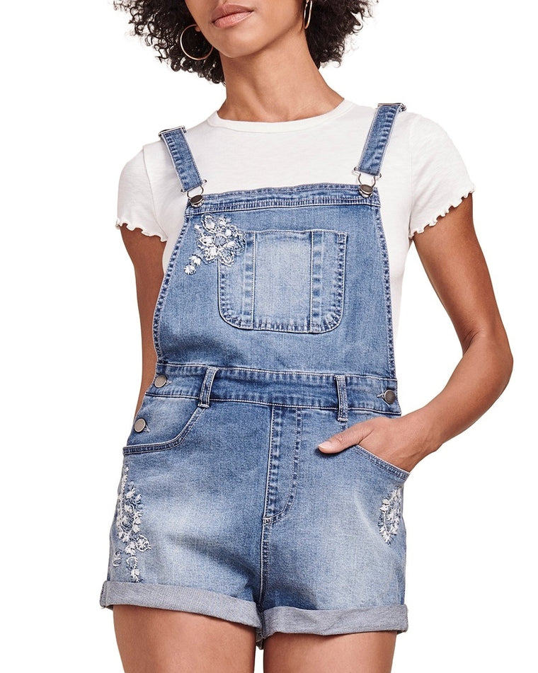 Soren Denim Short Overalls