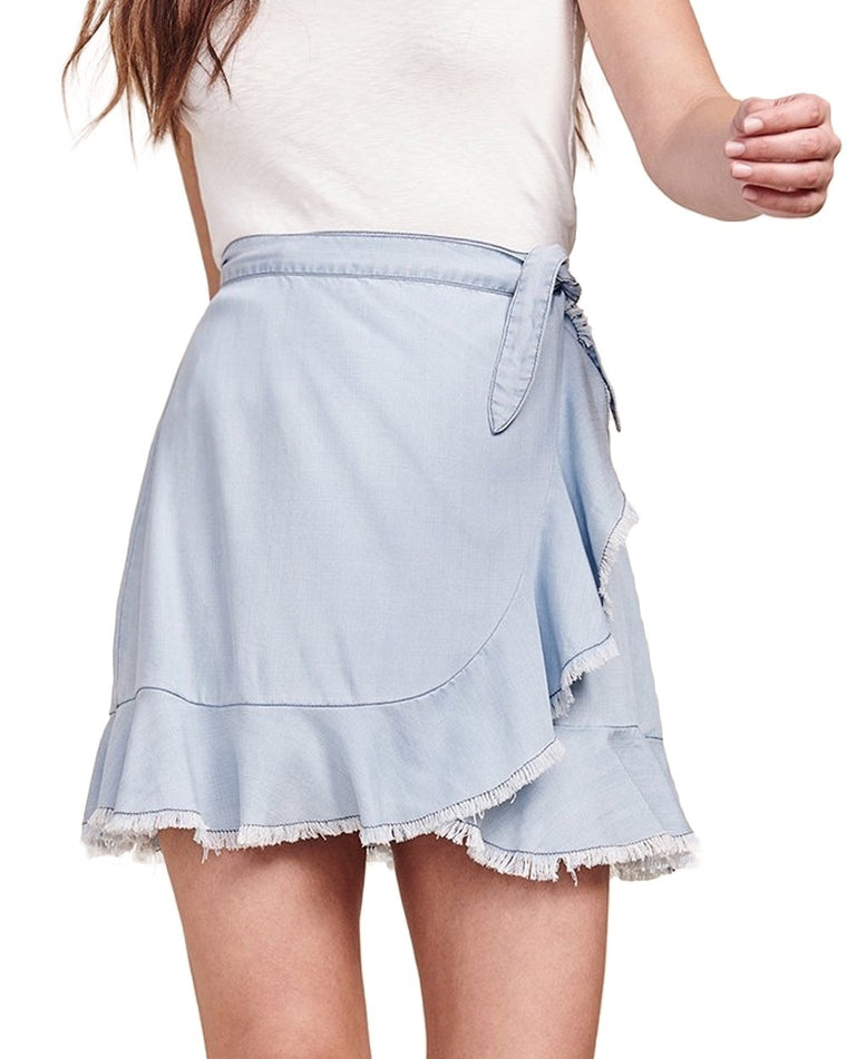 Jenelle Chambray Wrap Skirt