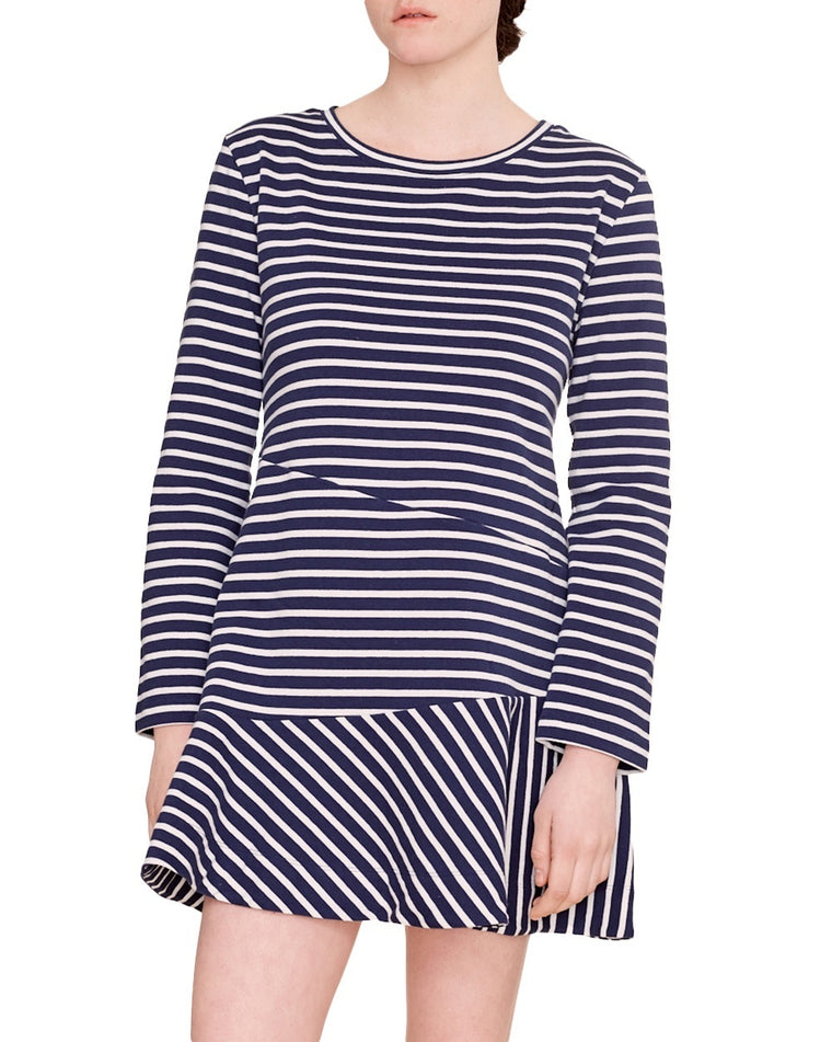 Directional Stripe Dress