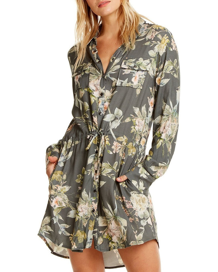 Heirloom Wovens Roll Sleeve Shirtdress