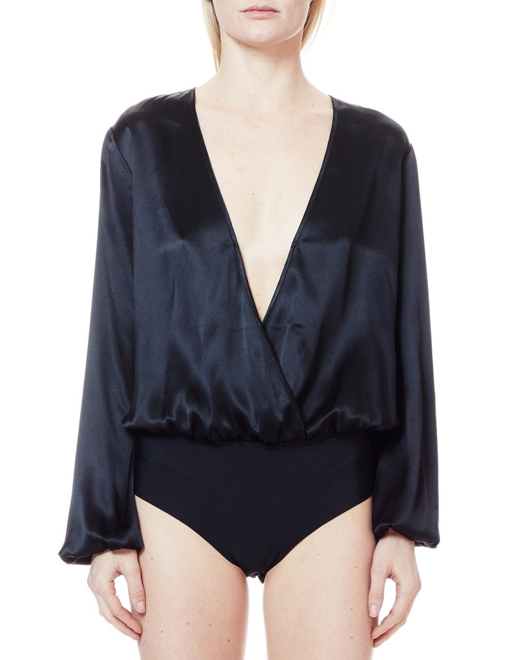The Ally Silk Bodysuit