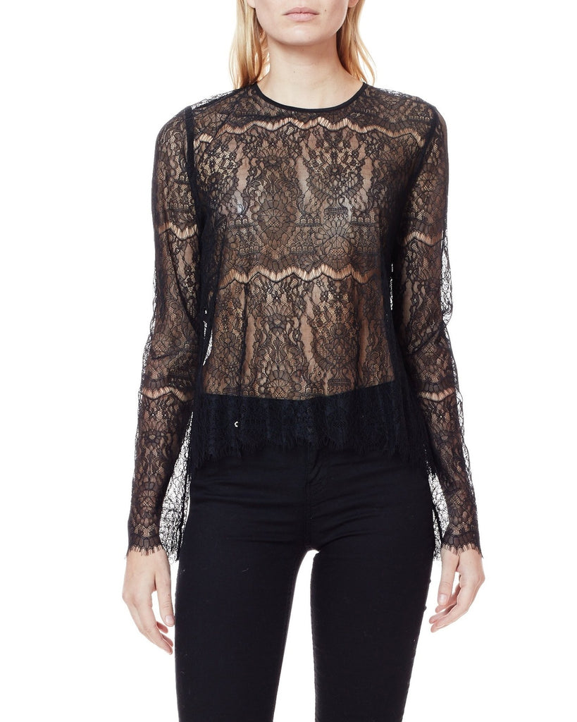 The Asher Sheer Lace Top