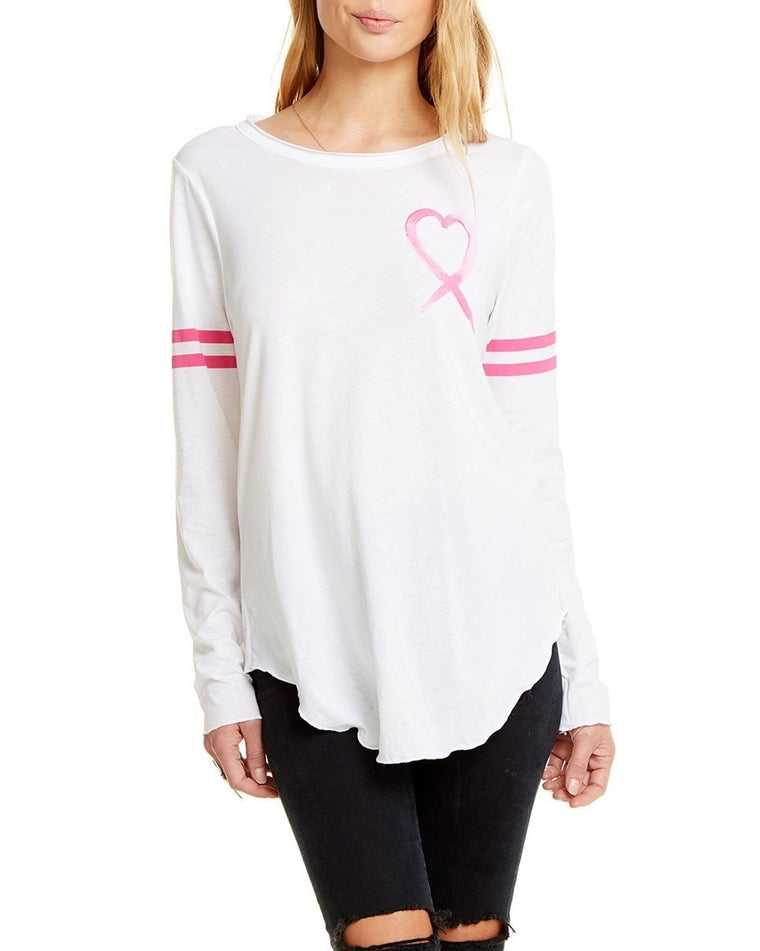 Heart Ribbon Breast Cancer Tee