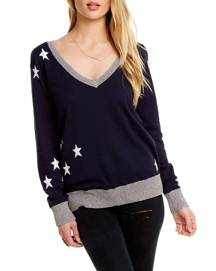 Starry V-Neck Sweater