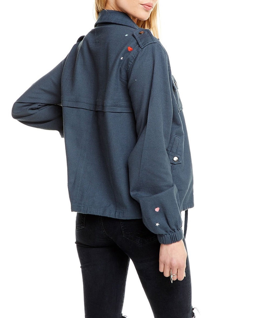 Patched Canvas Utility Jacket