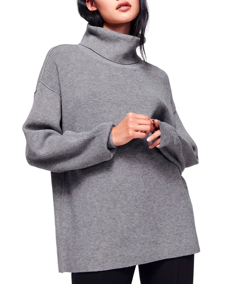 Softly Structured Knit Tunic Sweater