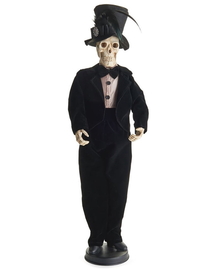 Standing Skeleton Groom Figurine