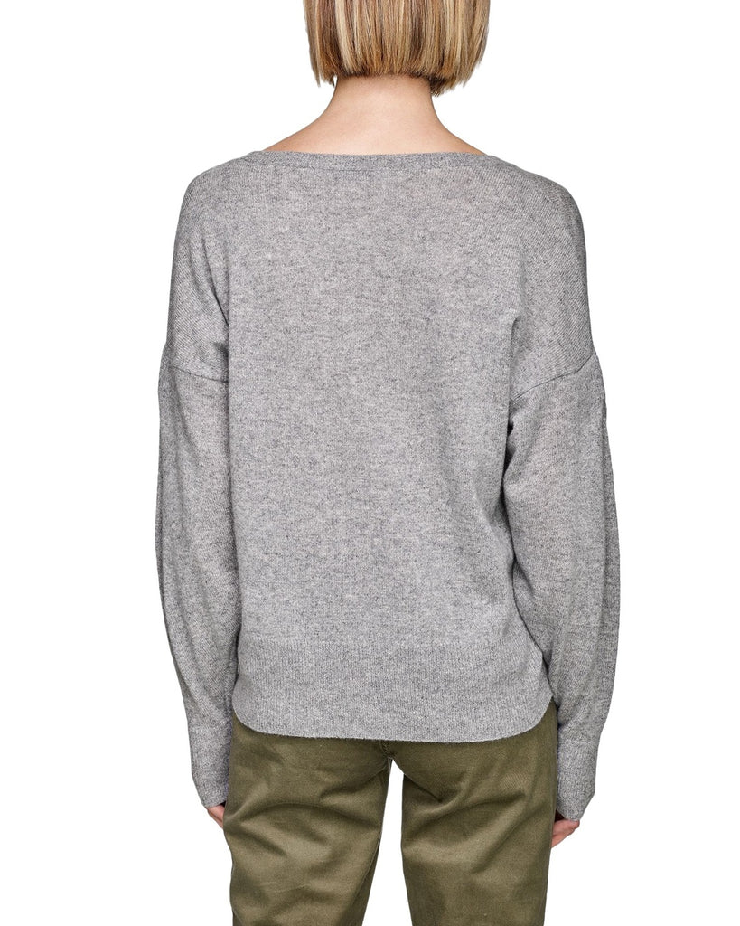 Pleated Sleeve Cashmere Sweater