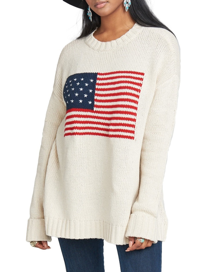 Fireside American Flag Sweater
