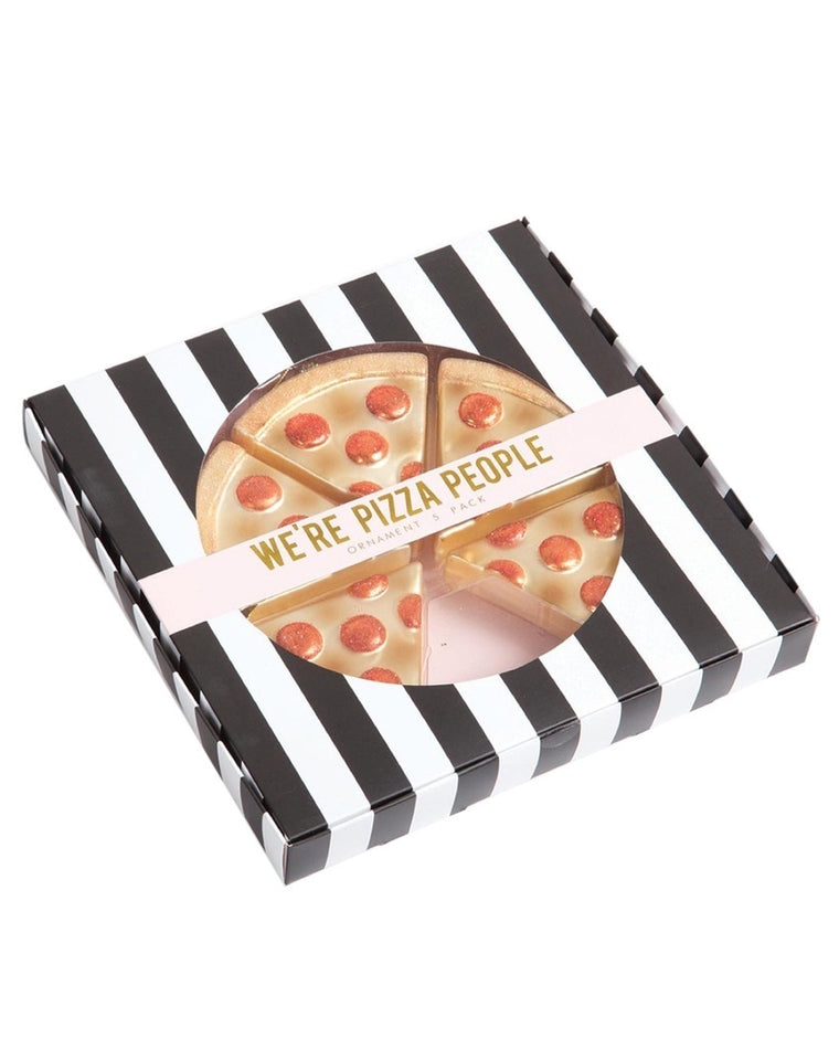 Whole Pizza Ornament Set
