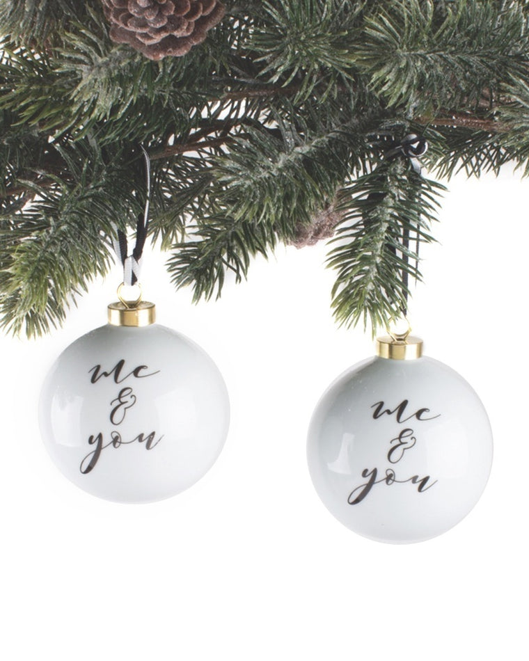 You & Me Ornament Set