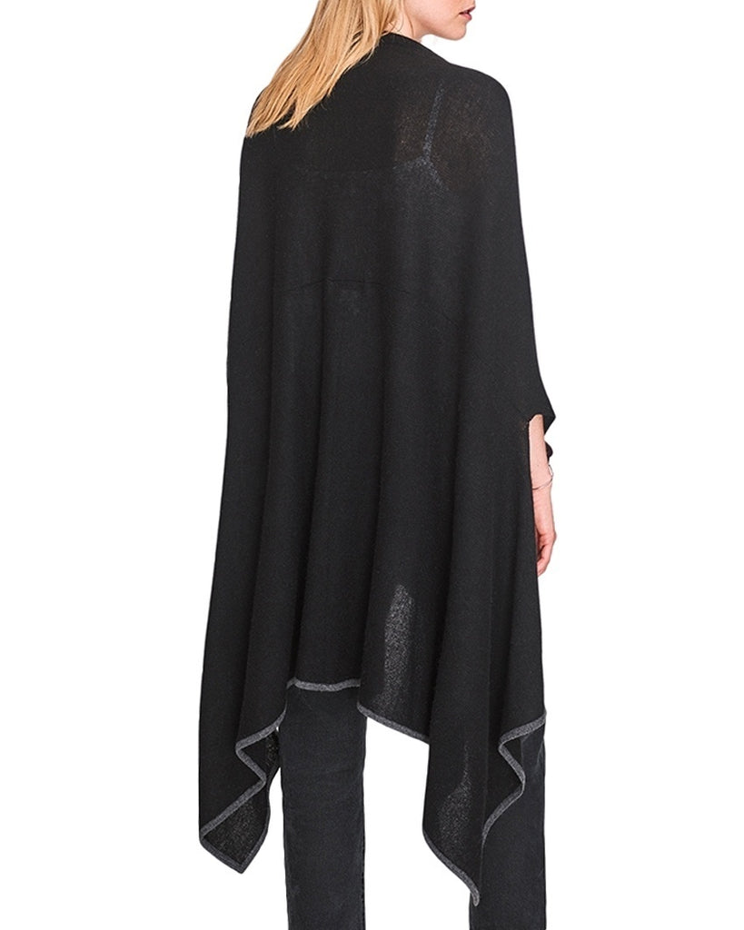 Cashmere Contrast Tipped Cape