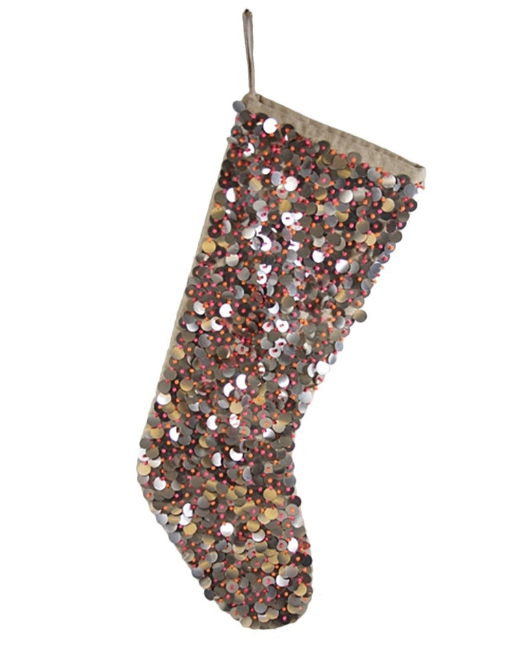 Disc Sequin Stocking
