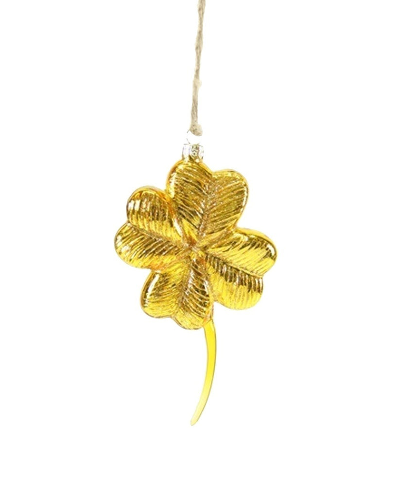 Gold Four Leaf Clover Ornament