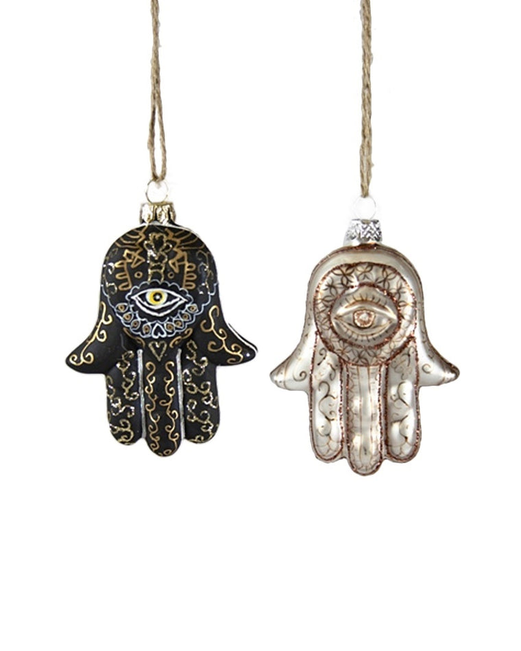 Hand of Fatima Ornaments (Set of 2)