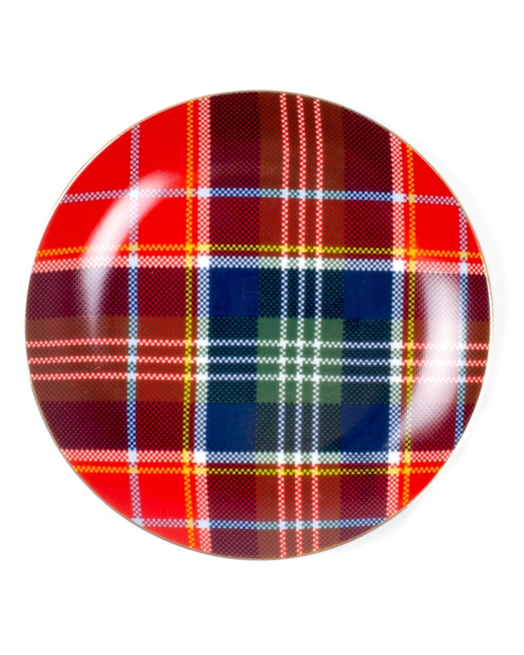 Tartan Pattern Dessert Plates (Set of 4)