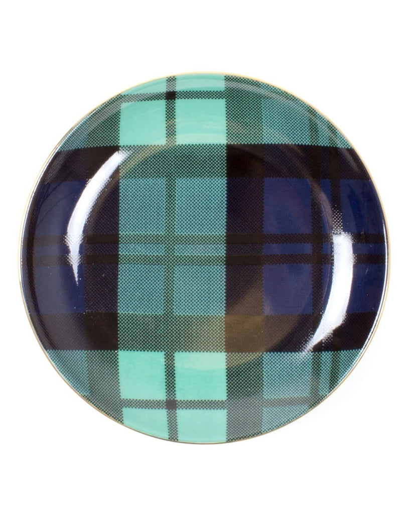 Plaid Pattern Dessert Plates (Set of 4)