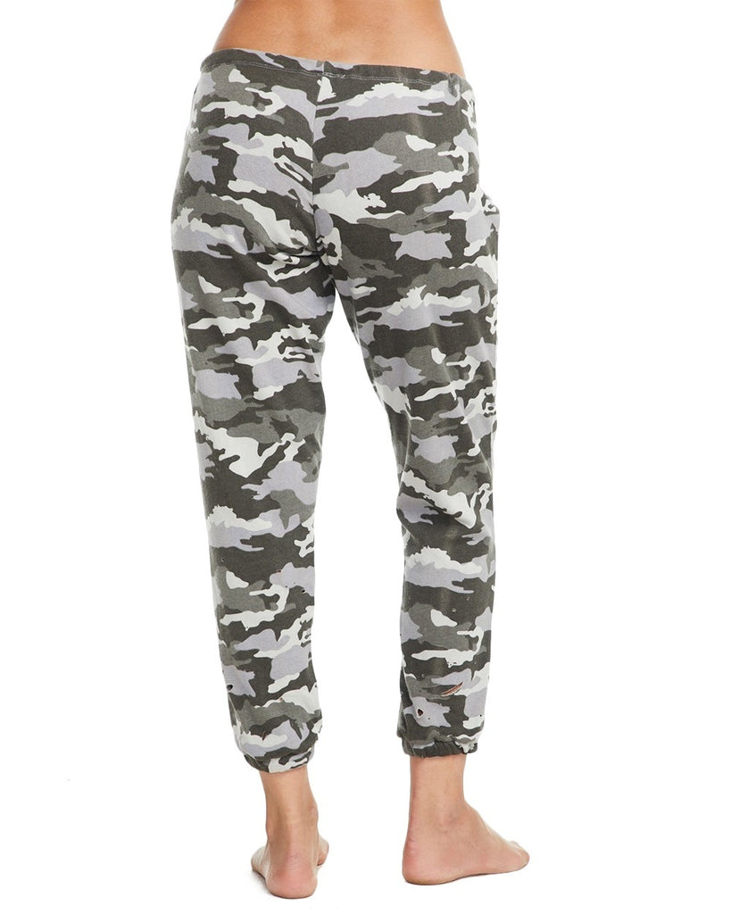 Distressed Camouflage Sweatpants