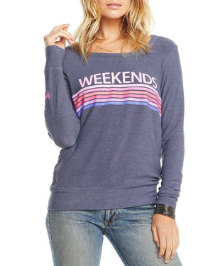 Weekends Striped Sweatshirt