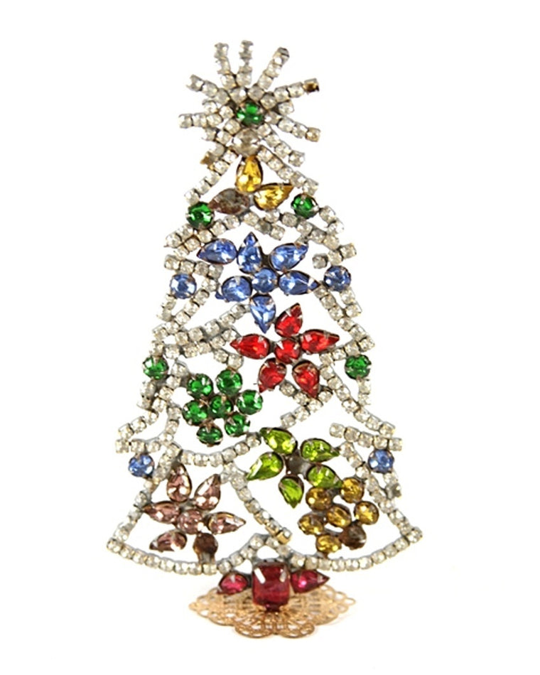 Jeweled Floral Tree Decoration