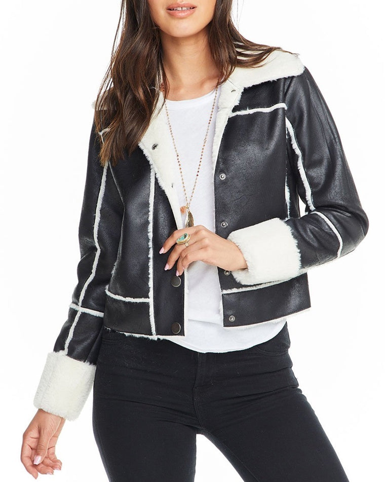 Faux Shearling Suede Jacket