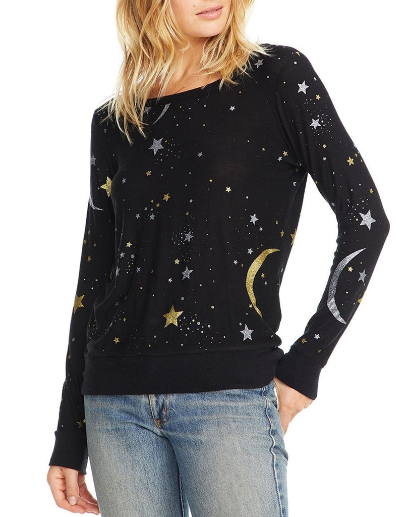 Moon and Stars Jersey Sweatshirt
