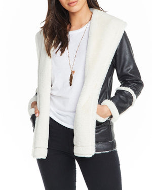 Faux Suede Shearling Jacket