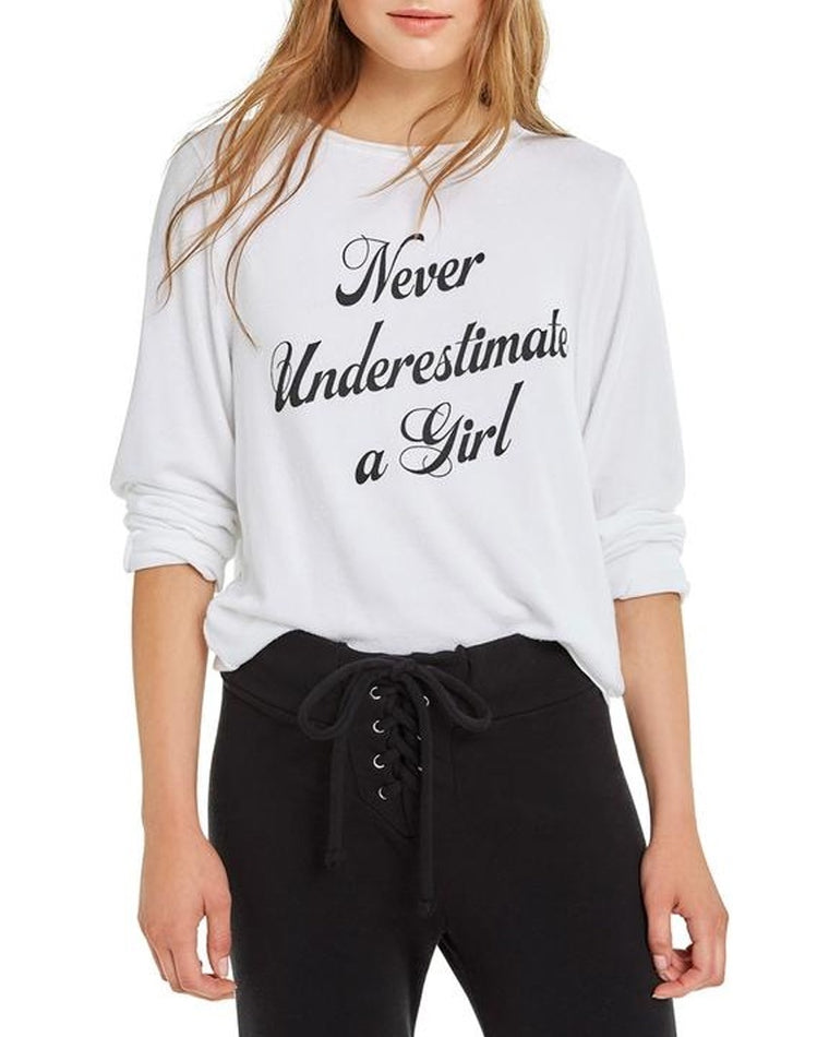 Never Underestimate A Girl Sweatshirt
