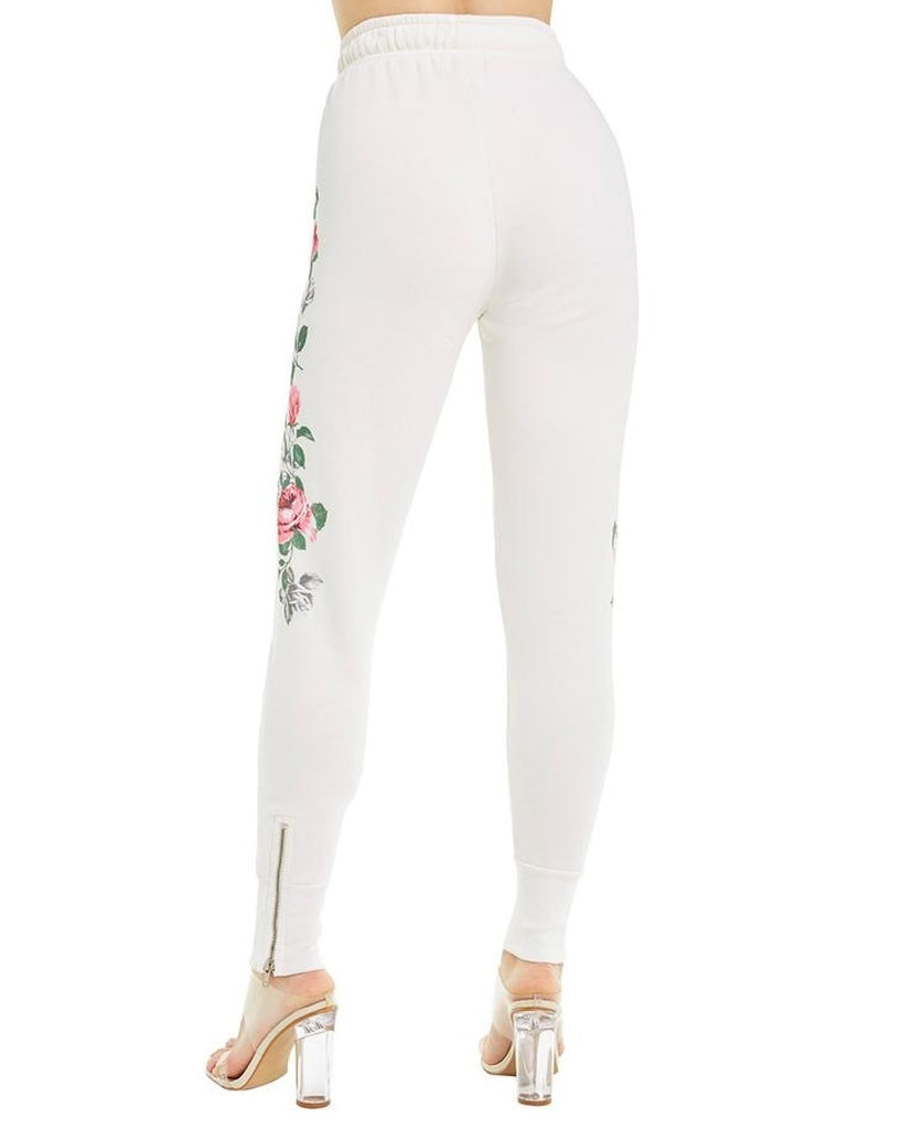 Rosy Stems Zip Cuff Sweatpants