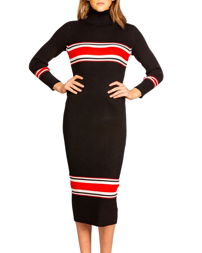 Sport Stripe Midi Sweater Dress