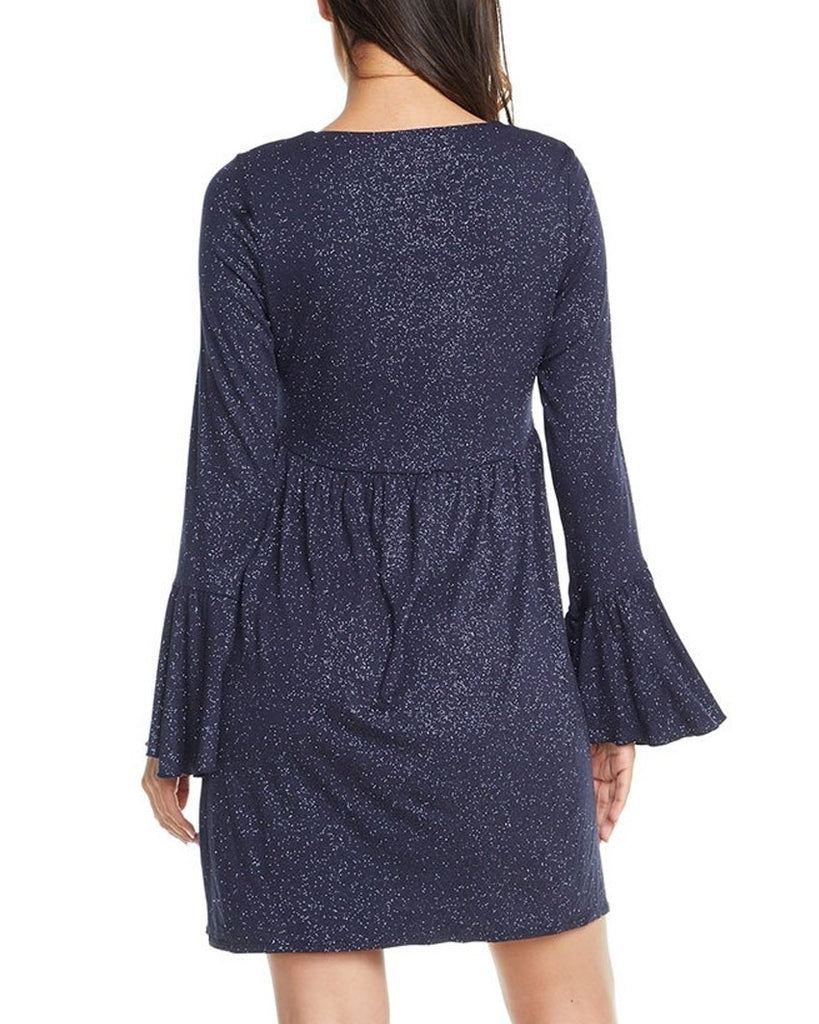 Sparkle Flounce Sleeve Mini Dress