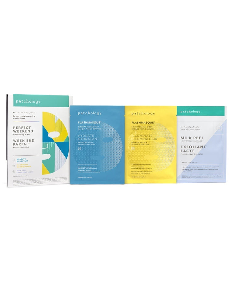 FlashMasque Perfect Weekend Facial Sheet Mask Set
