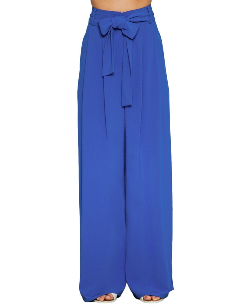 Belted High Waisted Palazzo Pants